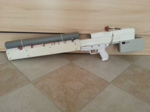570J 7-stage coilgun rifle 400V