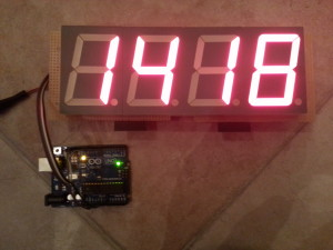 I2C Arduino Jumbo LED Display