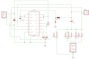 LM3406 LED Driver Schematic