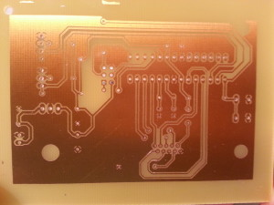 etched PCB for chrono
