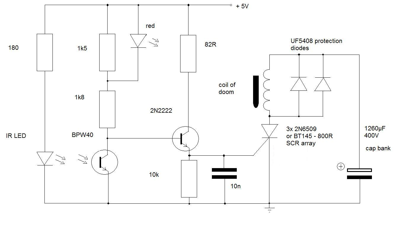 Multistage Coilgun Rifle Thinkering How To Make Simple Scr Circuits Trigger Circuit Coilgun2