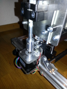aluminum flex shaft coupler on the Z axis