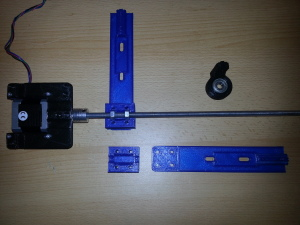 printed z axis arm extension and nut box