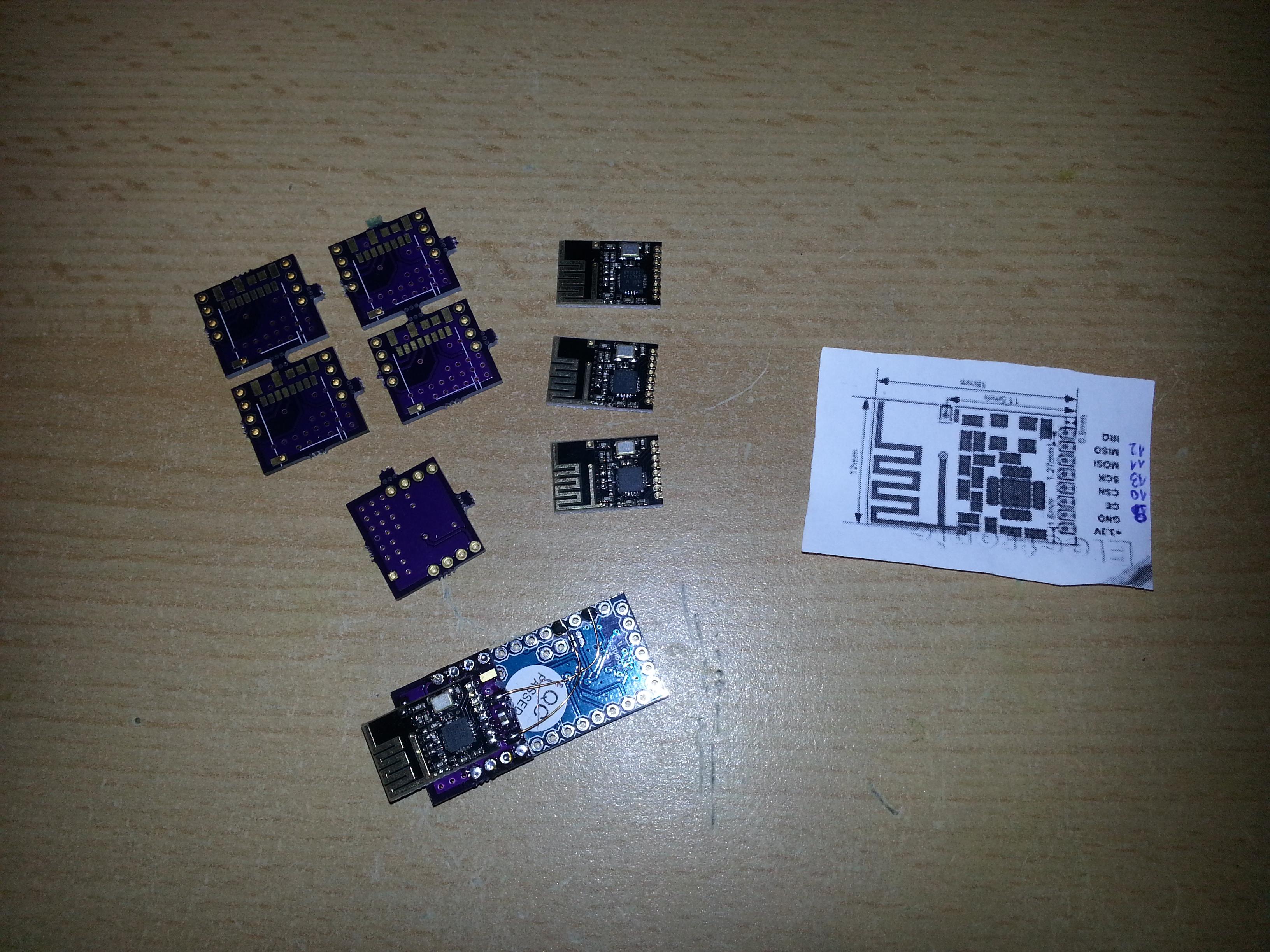 Arduino pro mini nrf l mm adapter thinkering
