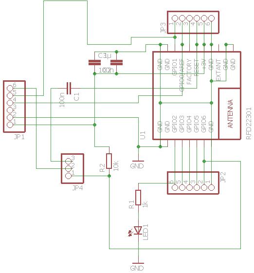 RFD22301 (RFduino) breakout | thinkering